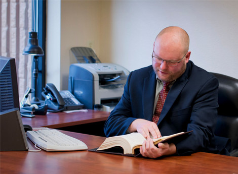 Oregon Workers Compensation attorney Colin Hackett at work